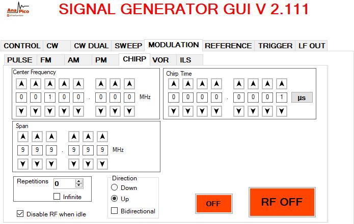 SIGNAL GENERATOR GUI