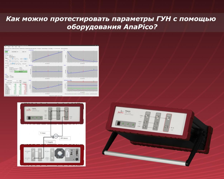 Инновационный метод тестирования параметров ГУН с помощью оборудования Anapico