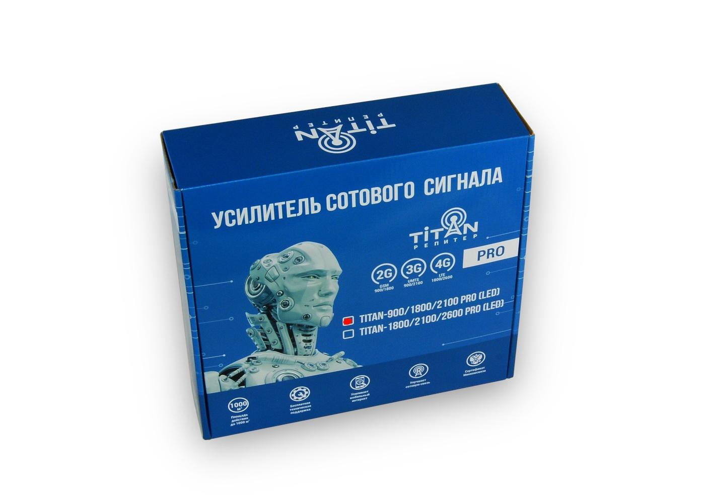Упаковка для репитера Titan-900/1800/2100 PRO (LED)