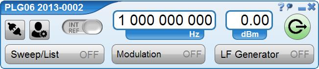 Возможности программного обеспечения Cинтезатор частот PLG06