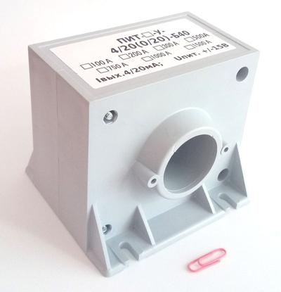 Преобразователи измерительные (датчики) постоянного и переменного тока ПИТ-100/200/300/400/500/600/750/1000/1500/2000/3000/4000-У-4/20-Б40