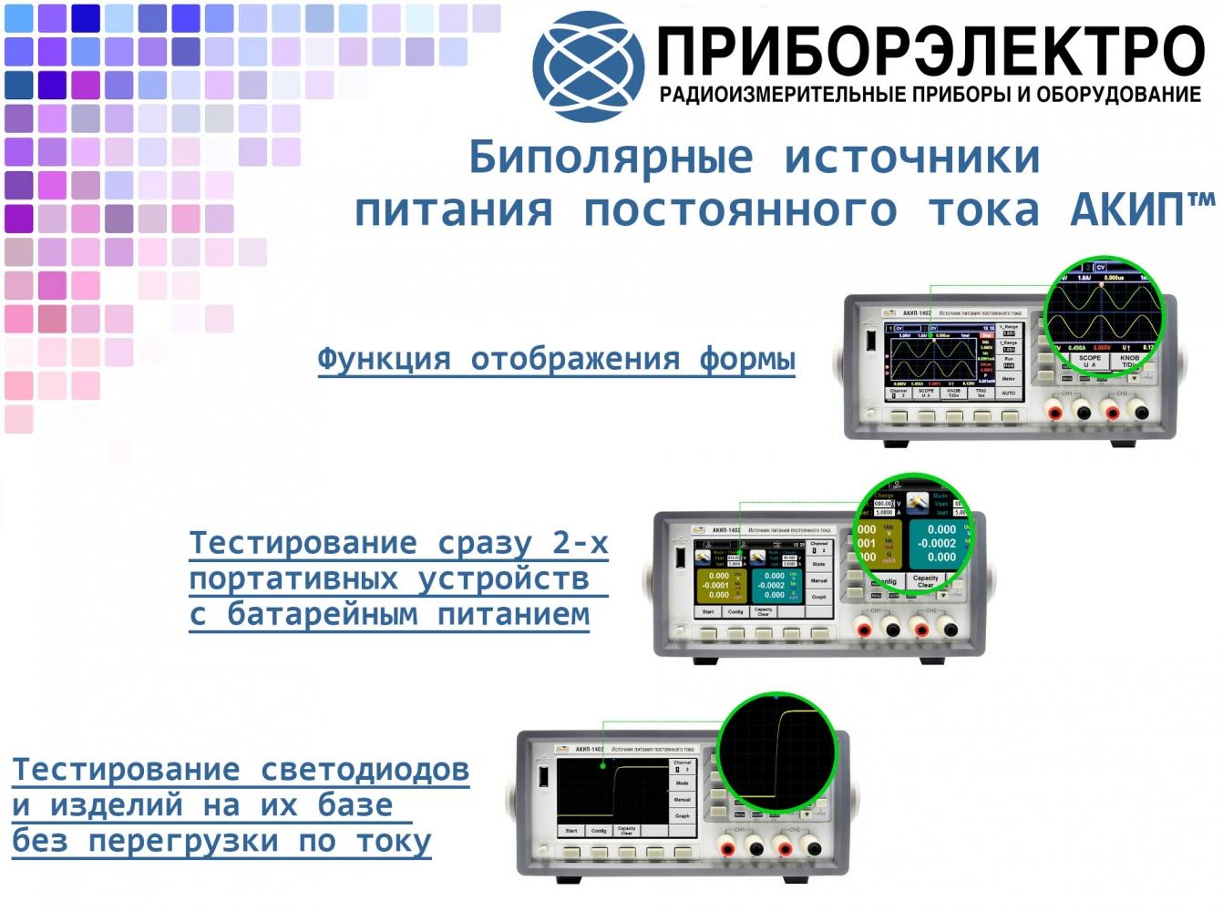 Биполярные источники питания постоянного тока АКИП™: АКИП-1401/АКИП-1402/АКИП-1403