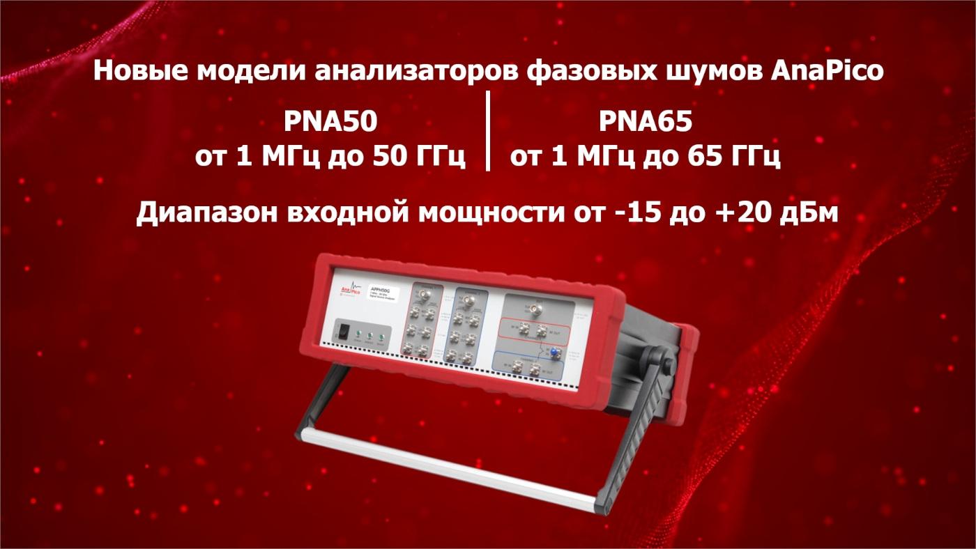 Новые анализаторы фазовых шумов AnaPico PNA50 (до 50 ГГц) и PNA65 (до 65 ГГц)