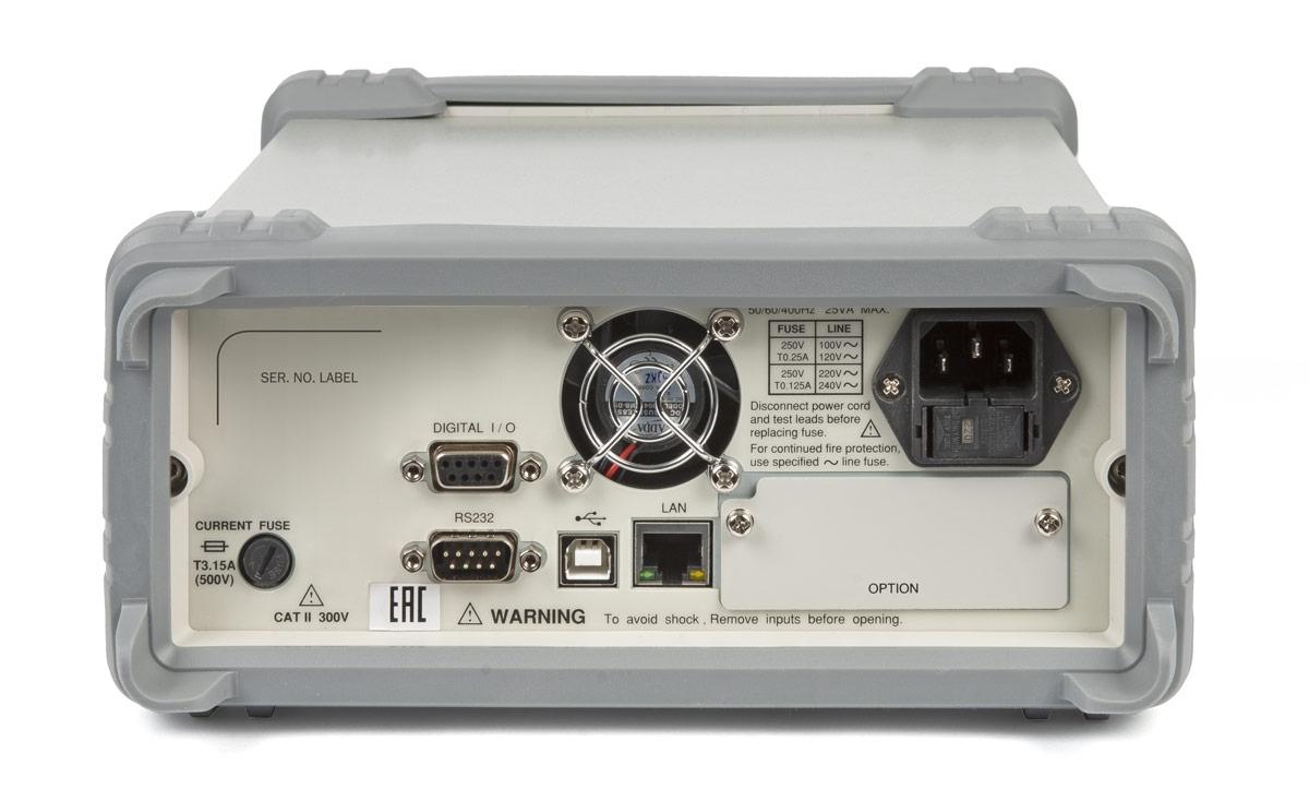 Вольтметр GDM-79060 (задняя часть)