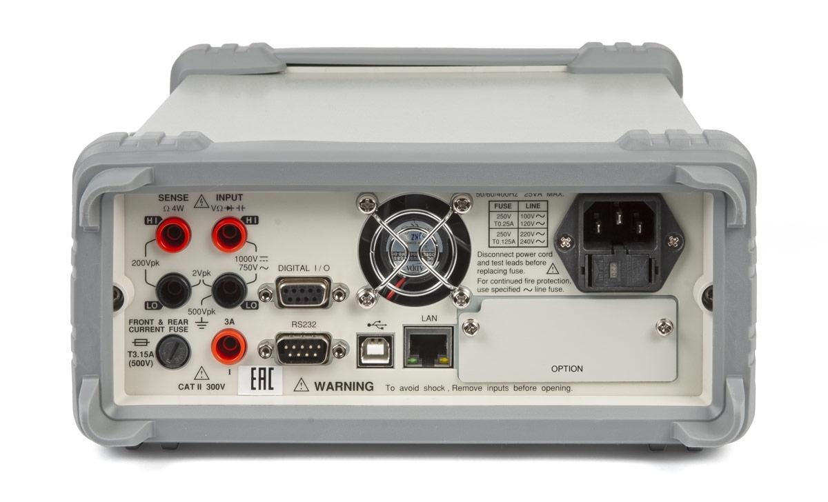 Вольтметр GDM-79061(задняя часть)